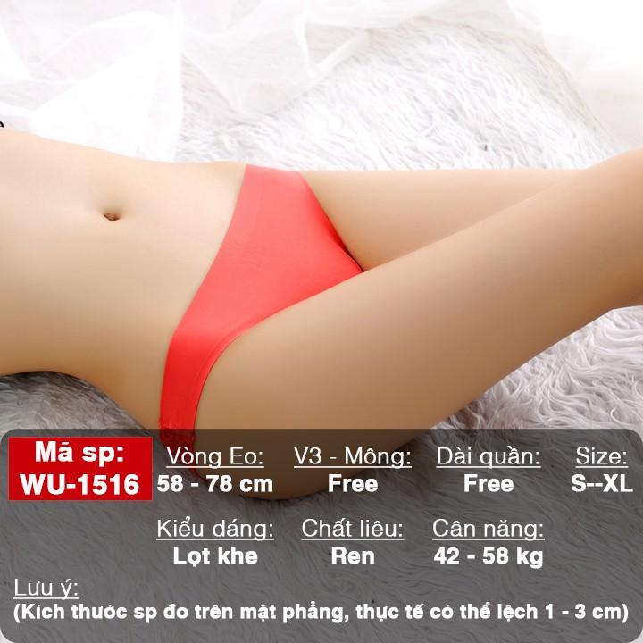 [CHUẨN HÌNH - FREESHIP50K] Quần chip ren lọt khe su đúc sexy - quần lót nữ gợi cảm WQ1516   SaleOff247