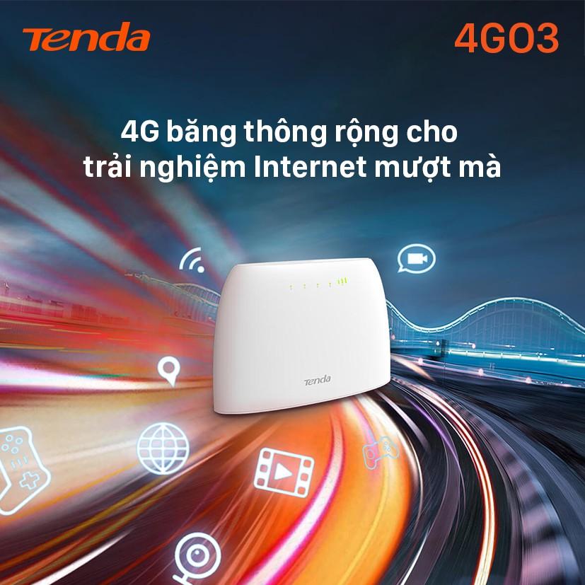 Tenda Bộ phát Wifi di động 4G LTE 4G03 - Hãng phân phối chính thức