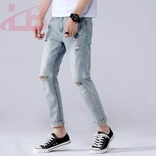 Quần jean nam co giãn rách gối cao cấp QJ1991, phom quần Skinny Fit jean, LB1990 Store