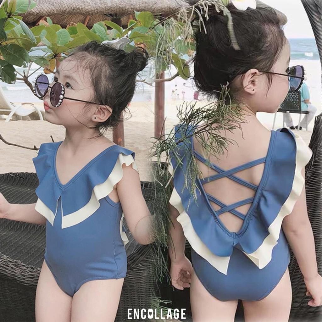 Bikini đan lưng cho bé gái (14-28kg)
