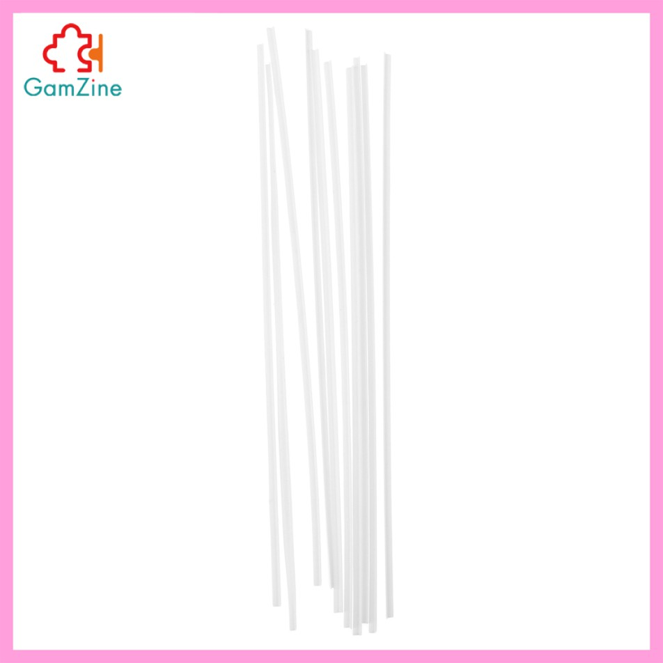 GamZine 10x ABS Plastic L-shaped Bar Rod Architectural Model Making White 3x3x250mm