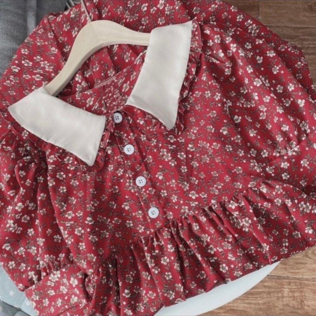 Mặc gì đẹp: Dễ chịu với Váy Bầu Mùa Hè Đầm Bầu HOA NHÍ CỔ BẺ sang chảnh trẻ trung