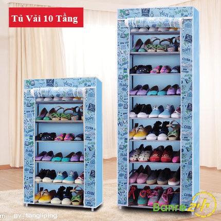 Tủ giày 10 tầng hình đẹp