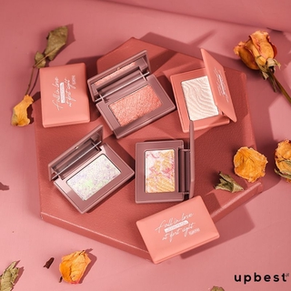 Shimmer Tone Highlighter Three-dimensional Repair And Highlight Monochrome Eye Shadow Palette upbest