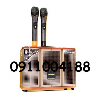 Loa kéo Mini Temeisheng GD06-39 công suất lớn, Tích hợp chức năng livestream thu âm thay đổi giọng nói + Tặng 2 micro thumbnail