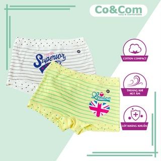 Set 2 Quần Chíp Đùi Cho Bé Gái Co&Com OCE Chất Cotton Modal Mềm Mại, Thấm Hút, Kháng Khuẩn – CD70015