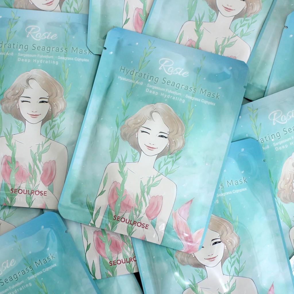 Kết quả hình ảnh cho SeoulRose Rosie Hydrating Seagrass Mask