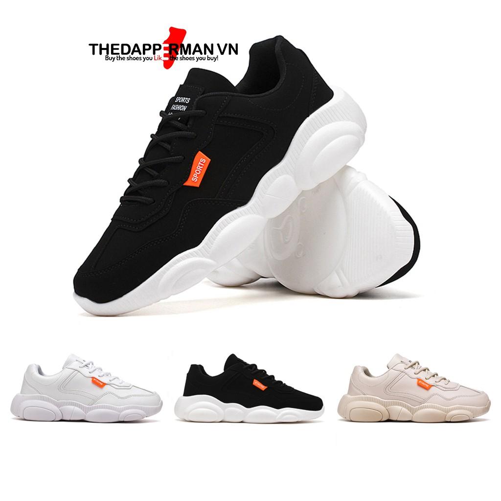 Giày thể thao sneaker nam THEDAPPERMAN XXD001 chất liệu da, đế cao su nhiệt dẻo, êm chân, chống trơn trượt, màu đen