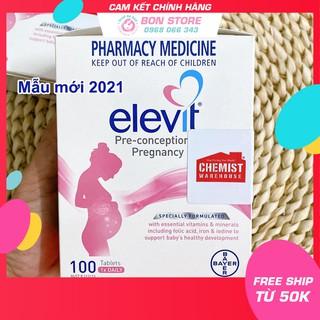 [TEM ĐỎ CHEMIST] Elevit Úc - Vitamin Tổng Hợp cho bà Bầu 100 viên (Date mới nhất) - Xuất xứ Úc thumbnail