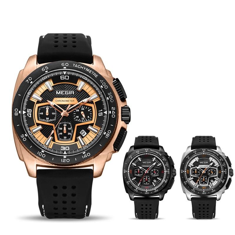 Đồng hồ đeo tay mặt tròn thể thao thời trang dành cho nam
