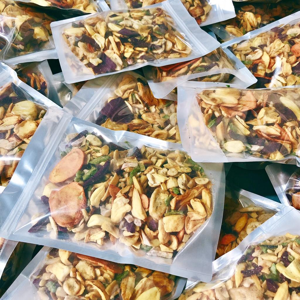 [Mã GROSALEHOT giảm 8% đơn 250K] 500gr Trái cây thập cẩm sấy vỡ đủ vị - hàng vụn