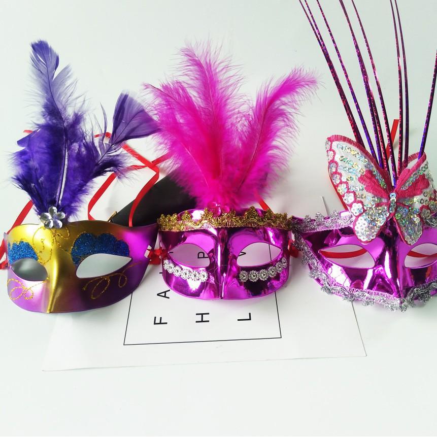 SK-mặt nạ lông vũ ( kèm ảnh thật )-( MK3) MSSP IF6156