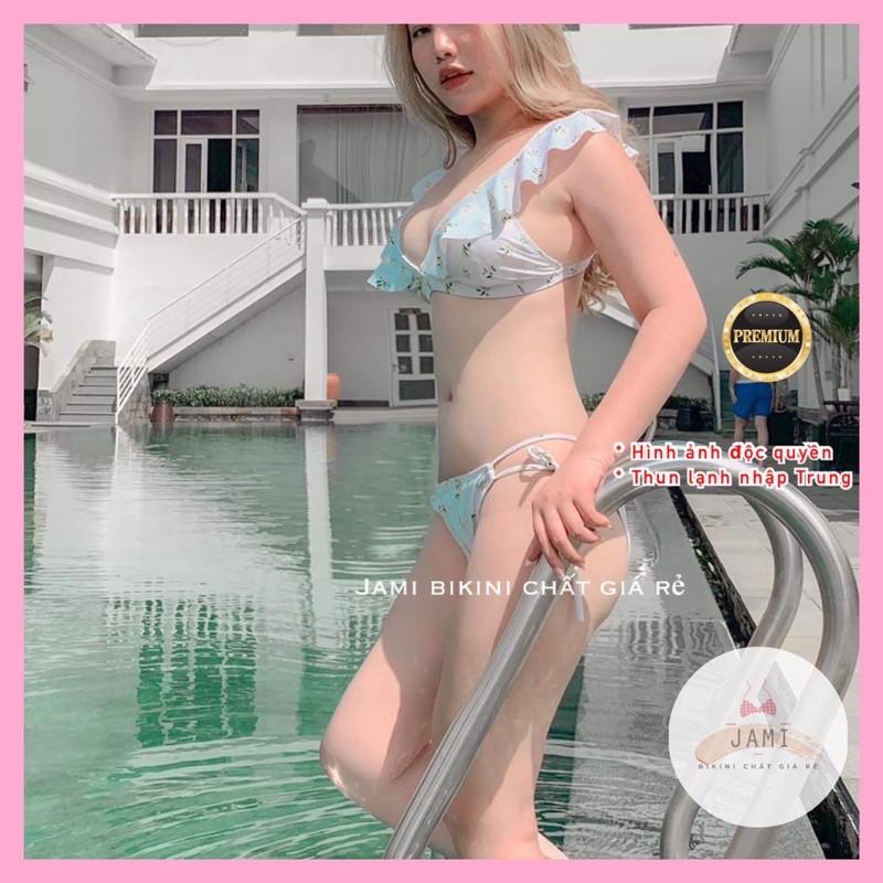 Bikini Áo Tam Giác Bèo Quần Tam Giác Quần Bơi Chíp Dây Hoa Lá Cao Câp Jami - Mm109 thumbnail