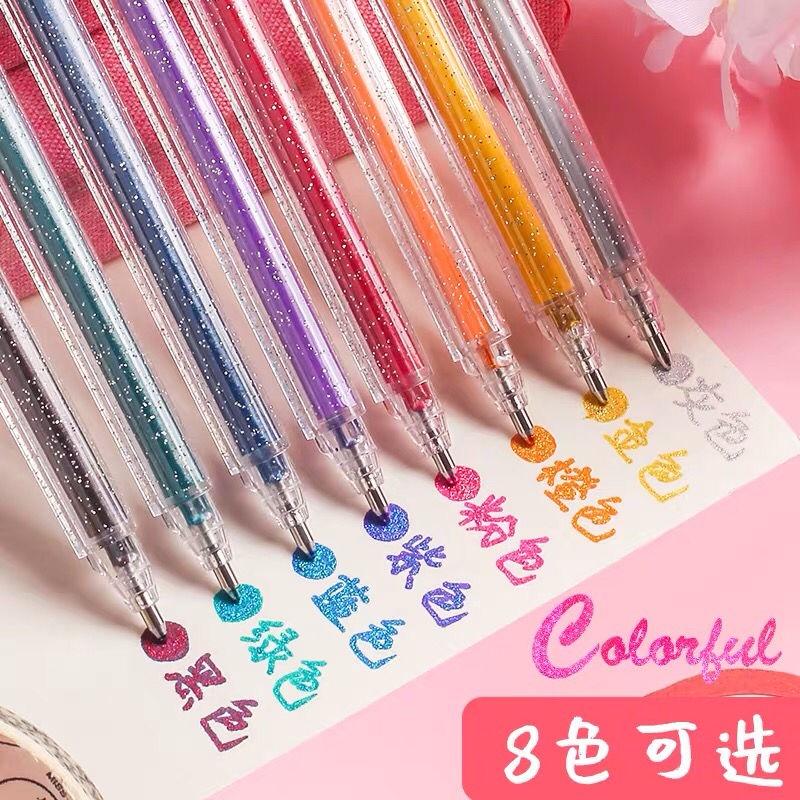 Bút Gel nhiều màu sắc bắt sáng lấp lánh