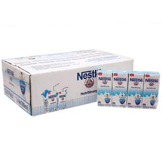 [Tặng hộp bút chì+bút lông kim] Thùng 48 hộp sữa tiệt trùng có đường Nestlé NutriStrong 180ml
