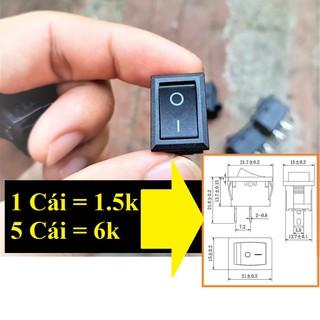 Công tắc bập bênh KCD1-101 15x21mm 250V 6A thumbnail
