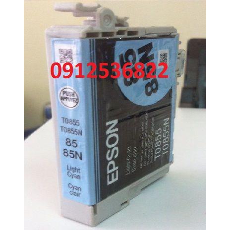 Mực in 85n light cyan xanh nhạt epson 1390 t60 chính hãng