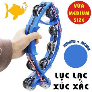 Lục lạc xúc xắc gõ bo nhựa hình con cá medium size (Màu Xanh Dương)