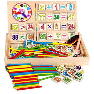 Đồ chơi gỗ hộp que tính 100 số