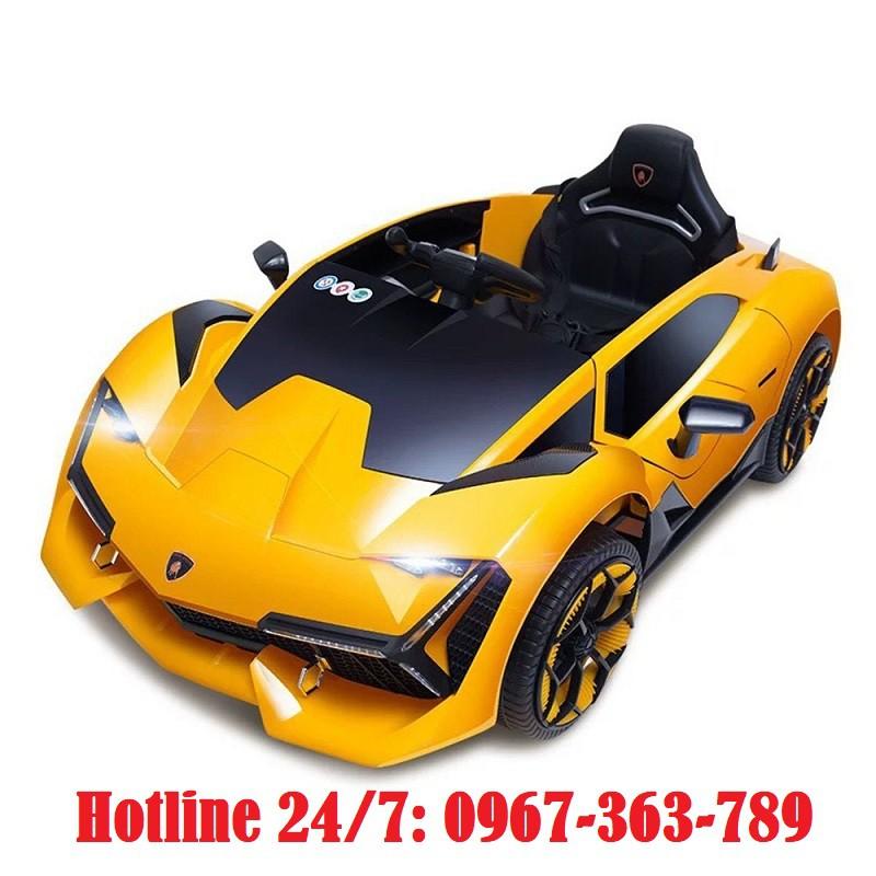 Ô tô xe điện điều khiển NEL 603 cánh mở chéo đồ chơi vận động cho bé (Xanh-Đỏ-Vàng)