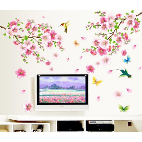 Decal dán tường mẫu cành hoa đào hồng - 10079874 , 644580300 , 322_644580300 , 35000 , Decal-dan-tuong-mau-canh-hoa-dao-hong-322_644580300 , shopee.vn , Decal dán tường mẫu cành hoa đào hồng