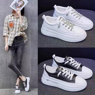 Giày nữ,giày nữ độn đế 4p kiểu dáng đơn giản hot 2020