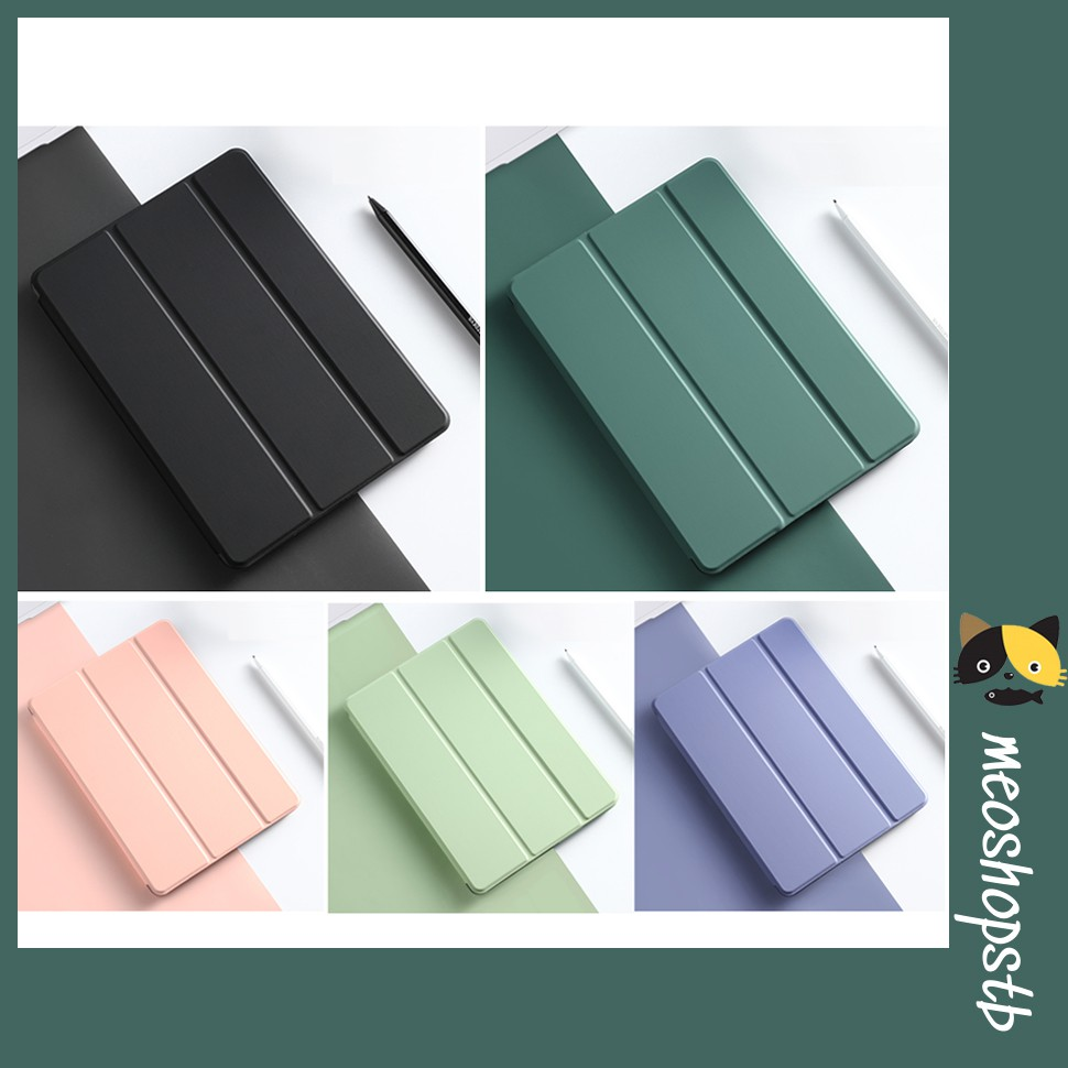 Bao da iPad, Ốp iPad Viền Silicon Màu Pastel (Không có khay bút)