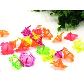 Baω 10pcs/set Mini Colourful Plastic Hand Spinner Finger Focus Stress Gyro Kids Gift ωby