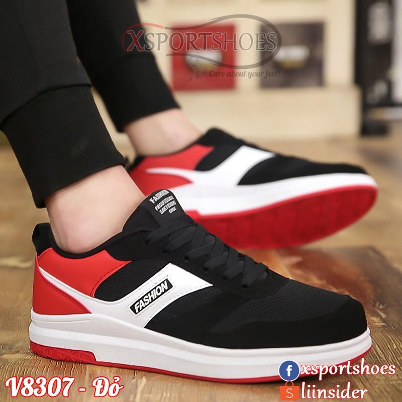 Giày thể thao nam Hàn Quốc V8307 vải thoáng khí màu đỏ - đen - trắng - 2403808 , 1256442448 , 322_1256442448 , 400000 , Giay-the-thao-nam-Han-Quoc-V8307-vai-thoang-khi-mau-do-den-trang-322_1256442448 , shopee.vn , Giày thể thao nam Hàn Quốc V8307 vải thoáng khí màu đỏ - đen - trắng
