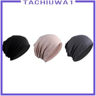 [TACHIUWA1] 3 Pcs Womens Slouchy Beanie Hat Skull Cap Baggy Chemo Cap Headwear Turban