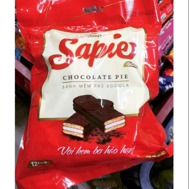 Bánh mềm phủ Socola Sapie / Bánh phủ chocolate Sapie