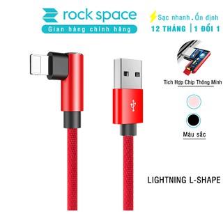 Cáp sạc cho iphone hình chữ L chính hãng Rockspace