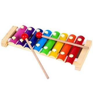 Do choi 💖FREESHIP💖 Giảm 20K Khi Nhập [DOCHOIGO20K] Đồ chơi đàn gỗ 8 thanh loại nhỏ giúp trẻ phát triển