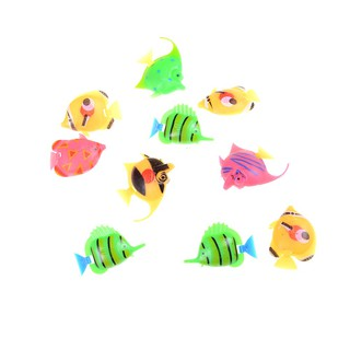 10 pcs Assorted Ocean Pet Figures Toy Gift Sea Life Model PVC Pool Fish Toy