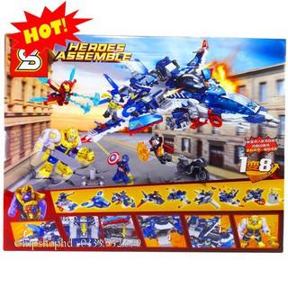 Bộ Lego Lắp Ráp Ninjago Super Heroes Avengers. Gồm 685 Chi Tiết. Lego Xếp Hình Đồ Chơi Cho Bé