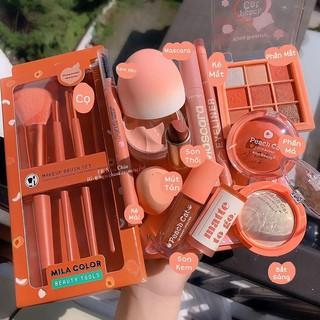 Bộ Trang Điểm Wowshop93, Set Tết xinh gồm 10 món makeup vô cùng dễ thương, nhìn là mê ngay.Bộ này Tone màu cam đào. thumbnail