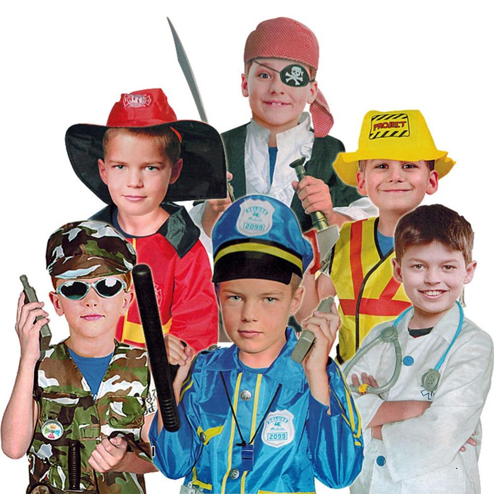 Children Halloween Role-play Costume Accessories Pirate Dress Up Pretend Caribbean Pirate Playset