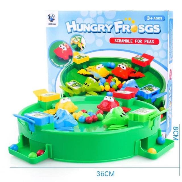 [Mã TOYNOV giảm 10% tối đa 15K đơn từ 50K] Bộ đồ chơi ếch ăn đậu kèm 24 bi siêu hót Hungry Frogs