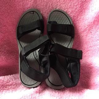[Đủ size] Giày sandal nam quai dù đen