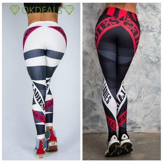 💎OKDEALS💎 High Waist Sportswear Printing Tights Women's Cloth Yoga Cartoon Printing