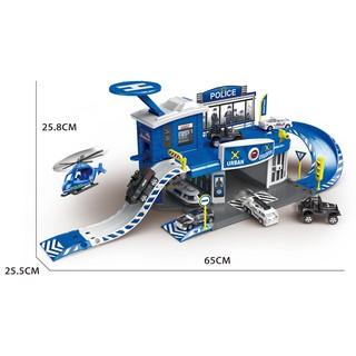 Đồ chơi xây dựng Trạm cảnh sát tích hợp SixSixZero Six-six-zero-A4