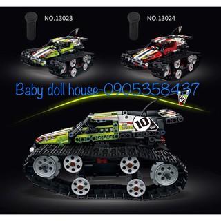 Bộ lắp ráp kiểu Lego Technic xe đua địa hình bánh xích điều khiển từ xa Mould King