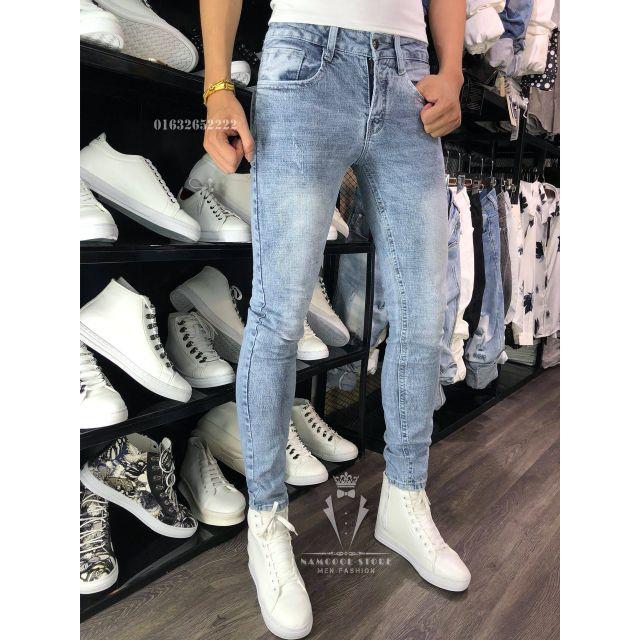 Quần jeans nam xanh sáng