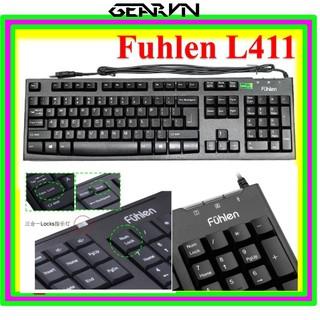 Bàn phím fuhlen L411 dây USB – Màu đen – Tem Ninza Chính hãng – Bảo hành 2 năm – GearVN Shop