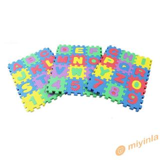 12❀ 36PCS/Set Alphabet & Numerals Baby Kids Play Mat Educational Toy Soft Mats