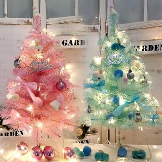 Cây Thông Giáng Sinh Mini Màu Hồng Xinh Xắn Kích Thước 60cm