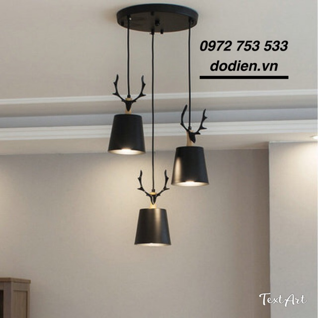 Đèn chùm thả 3 đèn bàn ăn, phòng khách cao cấp