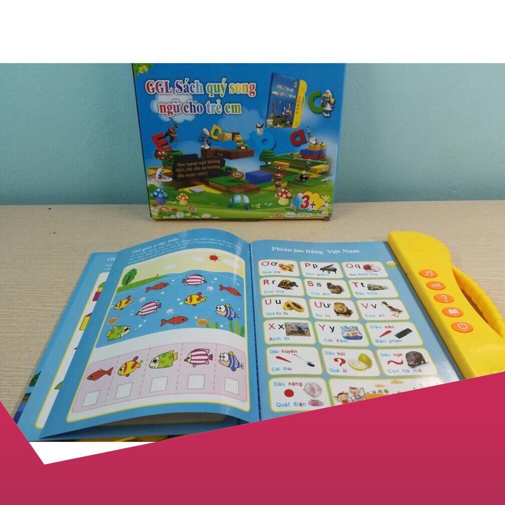[Giảm 9k cho đơn từ 99k] Combo 10 quyển sách nói song ngữ Anh Việt cho bé .