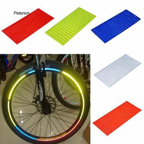 Miếng dán vành bánh xe dạ quang trang trí cho xe đạp leo núi
