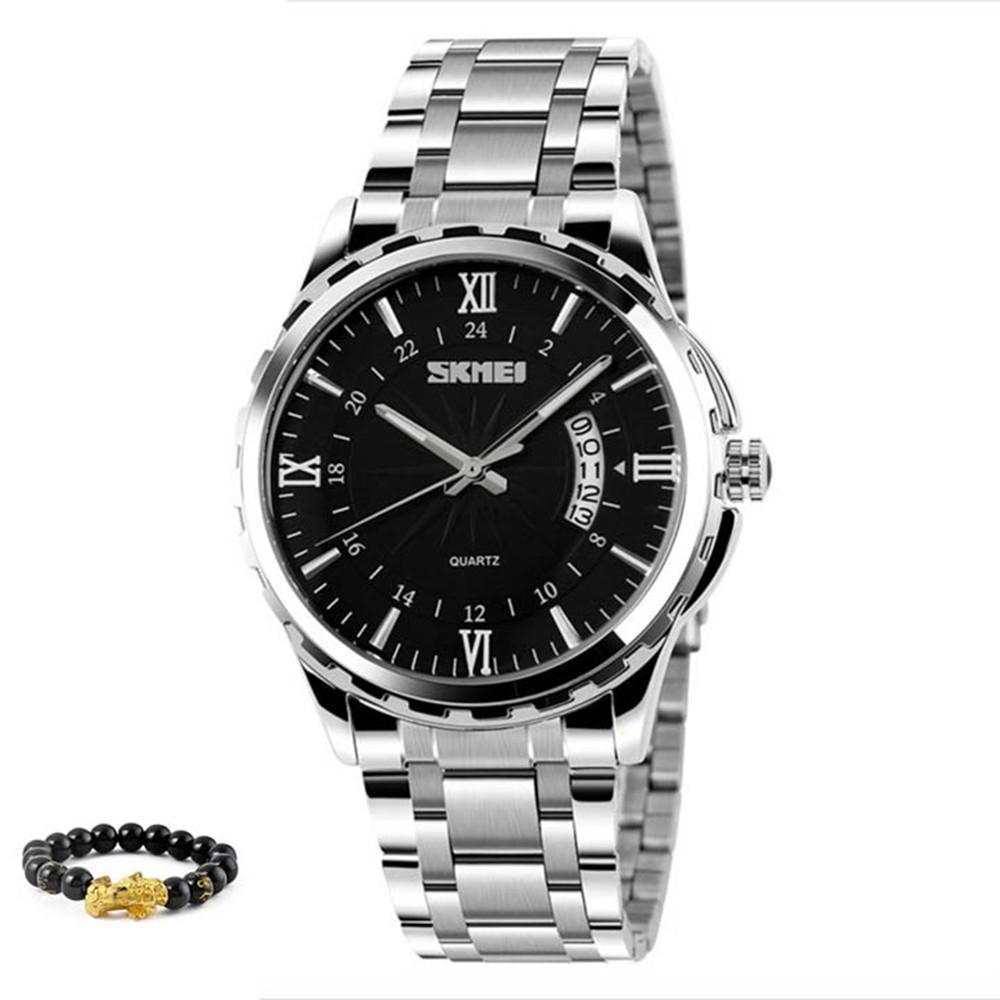 [Tặng vòng tay]Đồng hồ nam thời trang chính hãng dây thép chống gỉ Skmei SK9069.03